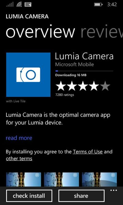 Lumia Camera для Windows Phone