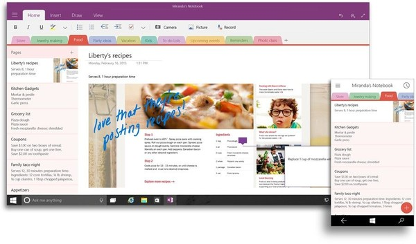 Office OneNote для Windows 10