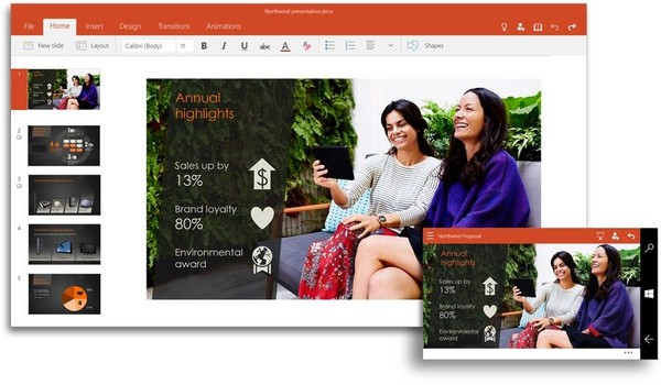 Office PowerPoint для Windows 10