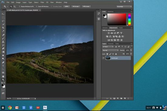Adobe Photoshop для Chrome OS